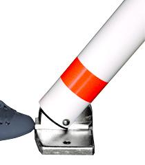 Absperrpfosten mit Liftomat Typ 906