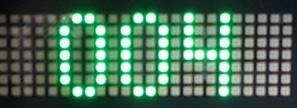 Signalgeber / Ampel mit LED-Anzeigetafel